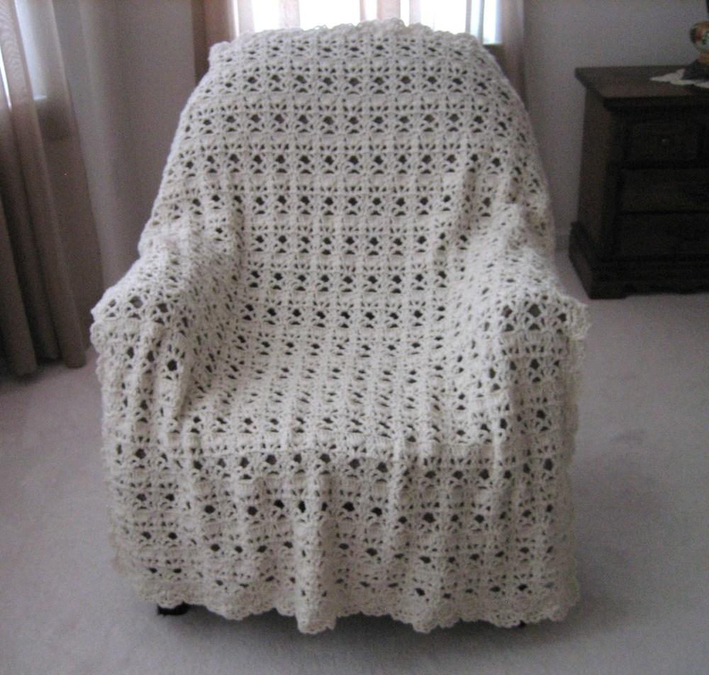 Vintage Lace Crochet Afghan AllFreeCrochetAfghanPatterns.com