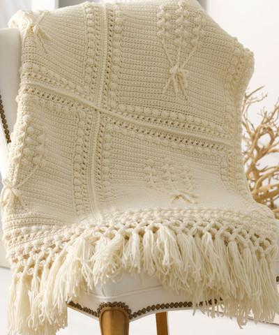 Crochet Pattern Aran Afghan : Aran Nosegay Crochet Blanket Pattern ...