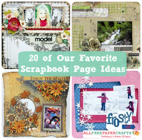 idea categories scrapbook layouts