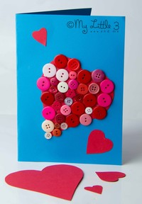 Adorable Button valentine Cards