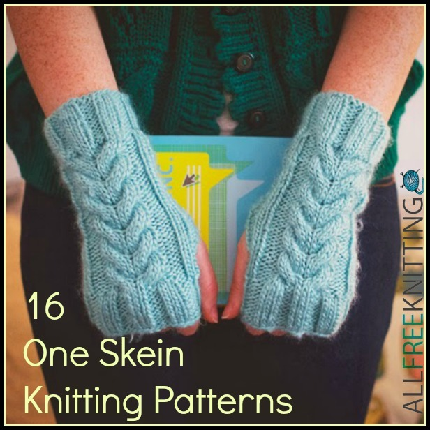 One Skein Knit Patterns : 16 One Skein Knitting Patterns AllFreeKnitting.com