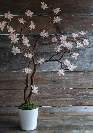 Crepe Paper Cherry Blossoms Arrangement