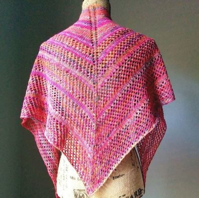 Hawaiian Sunset Lace Shawl AllFreeKnitting.com