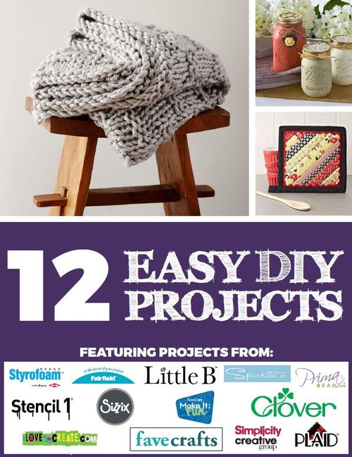 12 Easy DIY Projects free eBook