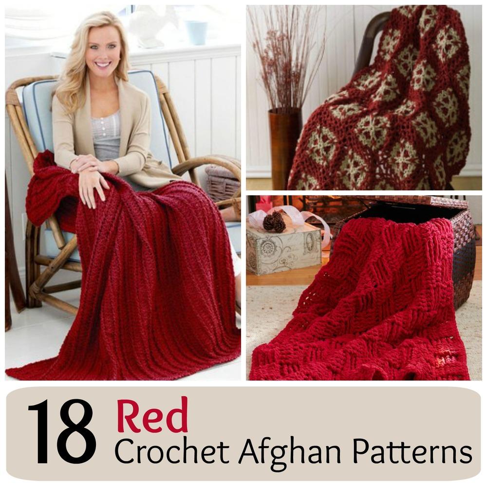 18 Red Crochet Afghan Patterns ...