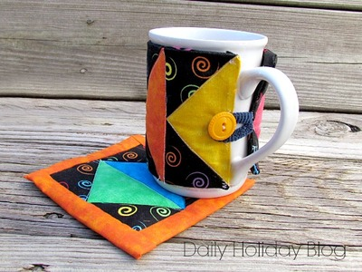 Art Deco Mug Rug Pattern