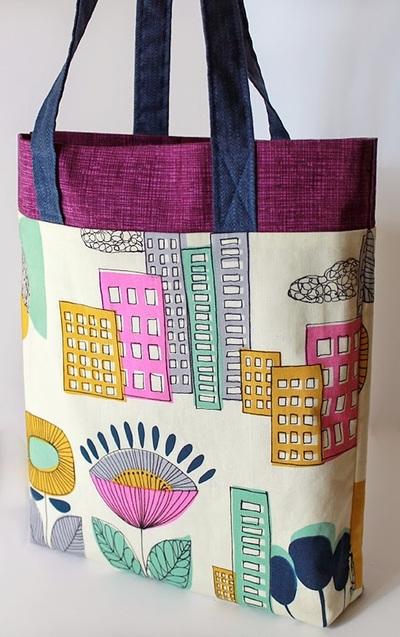 Tri-Color Ten-Step Tote Bag Pattern