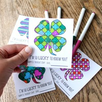 Printable St. Patrick's Day Coloring Cards
