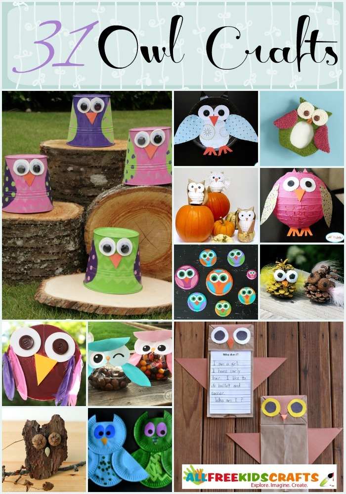 Animal craft ideas 31 owl crafts for Owl fish store