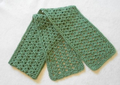 Free Crochet Scarf Edging Patterns : Beginners Crochet Scarf AllFreeCrochet.com