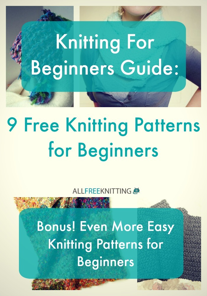 Knitting Stitches For Beginners : Knitting For Beginners Guide: 9 Free Knitting Patterns for Beginners AllFre...