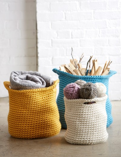 Mega Bulky Crochet Storage Baskets
