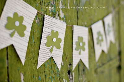 St Patricks Day Bookish Banner