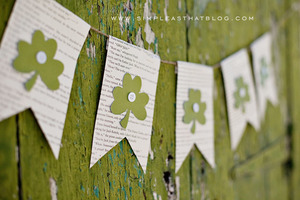 St. Patrick's Day Bookish Banner