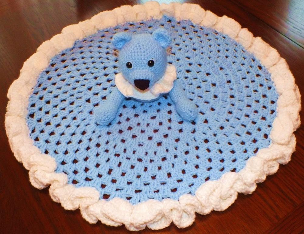 Teddy Bear Security Blanket AllFreeCrochet.com