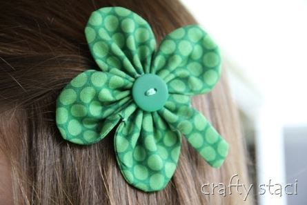 Adorable Shamrock Barrette