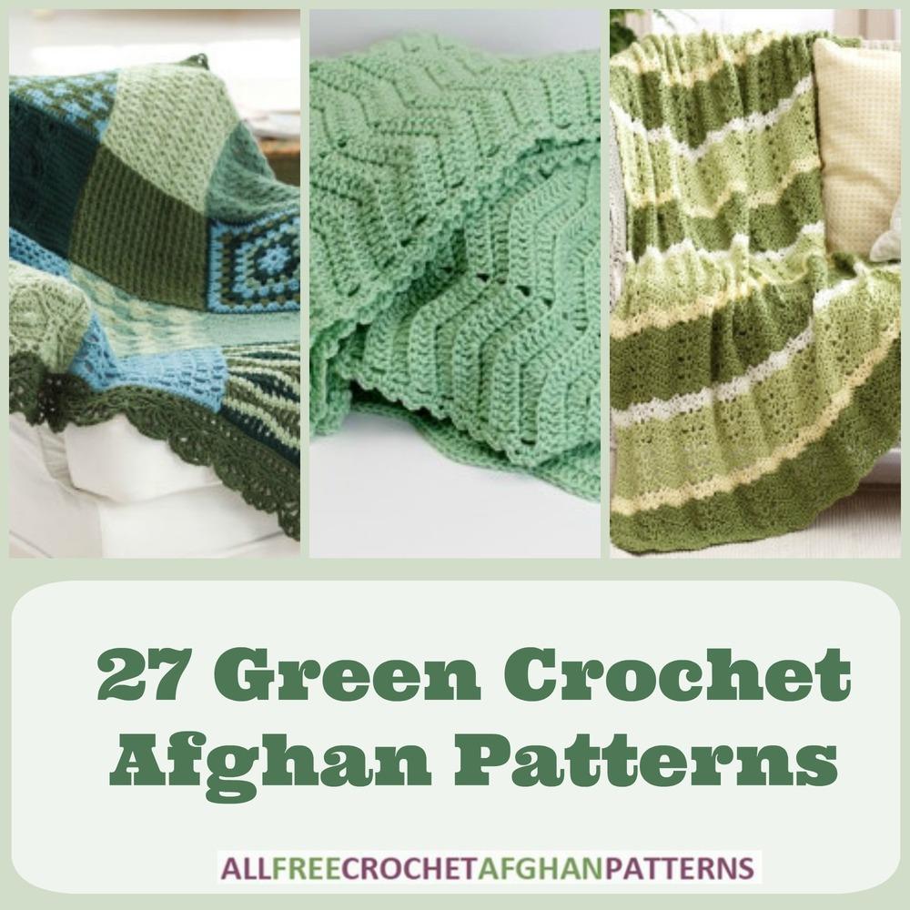 Crochet Stitches V-St : 27 Green Crochet Afghan Patterns AllFreeCrochetAfghanPatterns.com