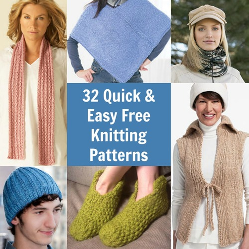 32 Quick and Easy Free Knitting Patterns and Beginner Help