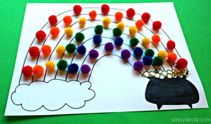 Pom Pom Rainbow Crafts