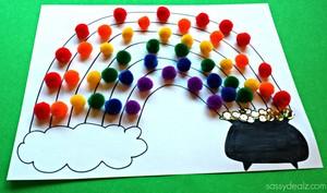 Pom Pom Rainbow Crafts