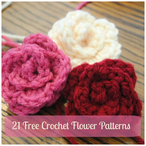Free Crochet Pattern Large Flower : 21 Free Crochet Flower Patterns + Daisy Video ...