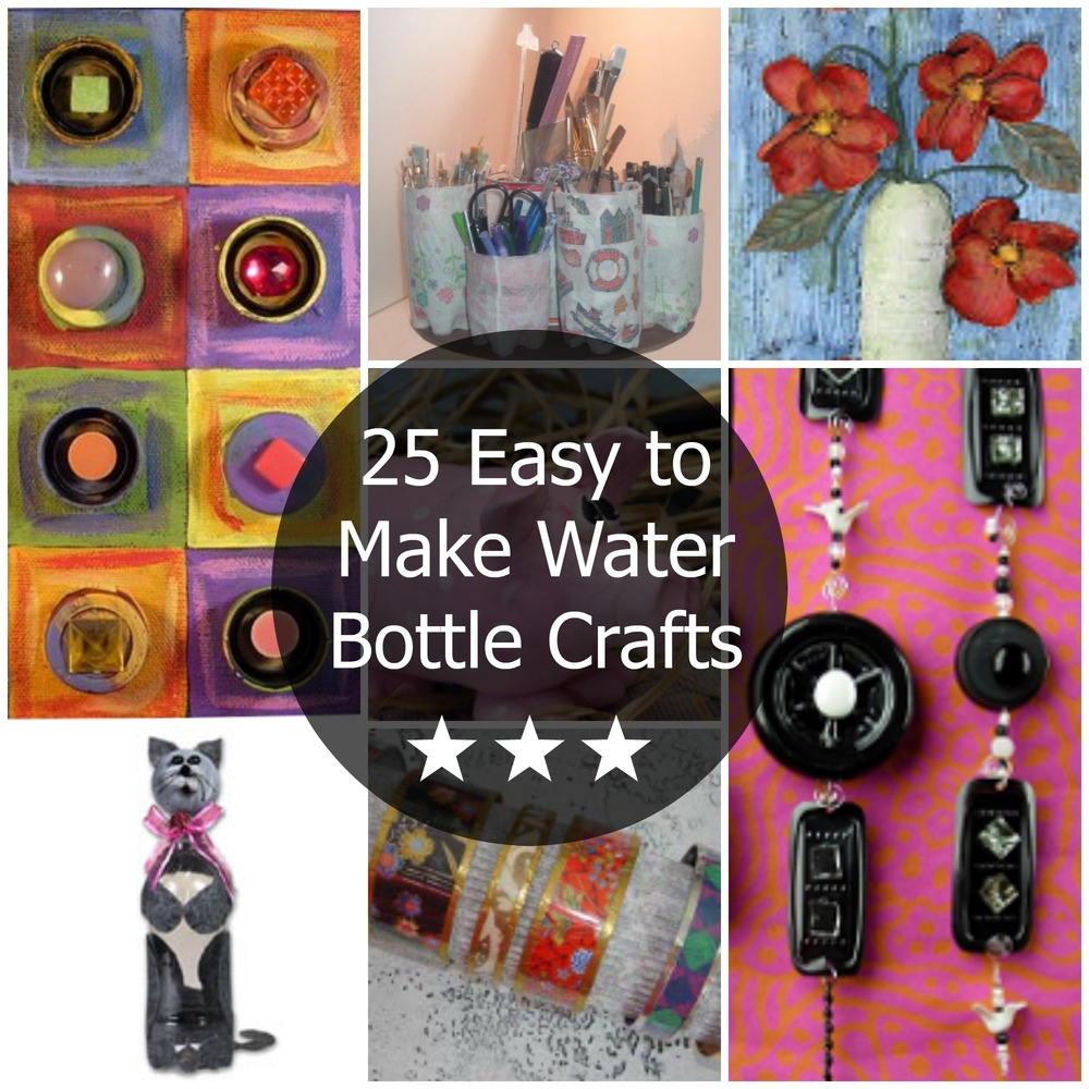 25 easy to make water bottle crafts for Waste material craft work with bottles