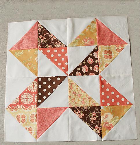 Free Quilt Block Patterns Pinwheel : Dutch Pinwheel FaveQuilts.com