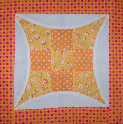 Curved Nine Patch Quilt Block