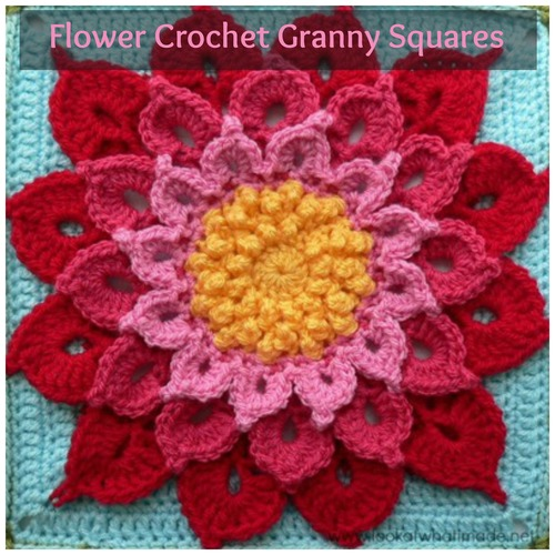 Crochet Pattern For Flower Granny Square Traitoro For