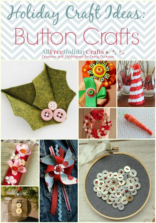 Holiday craft ideas 25 button crafts for Craft buttons for sale