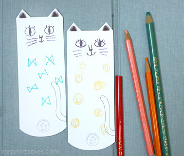 Cool Cat Bookmarks
