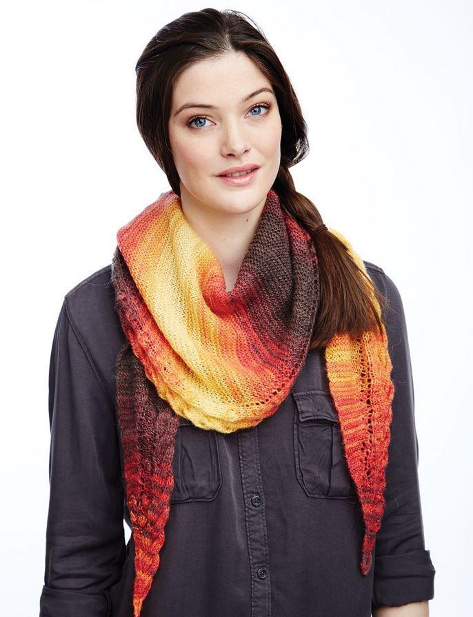 grand canyon sunset shawl allfreeknittingcom