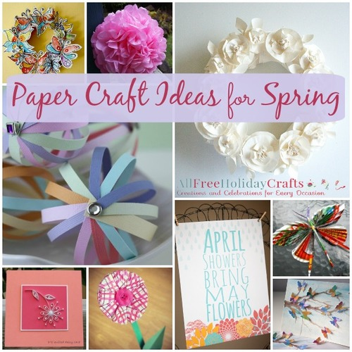25 paper craft ideas for spring table of contents paper decorations ui5Av07l