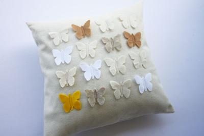 Fluttering Butterfly Pillow