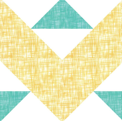 Beach and Boots Quilt Block Pattern