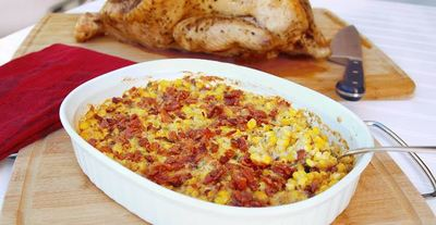 Rustic Corn and Bacon Casserole