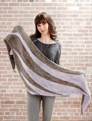 Lavender Fields Easy Knit Shawl Pattern AllFreeKnitting.com