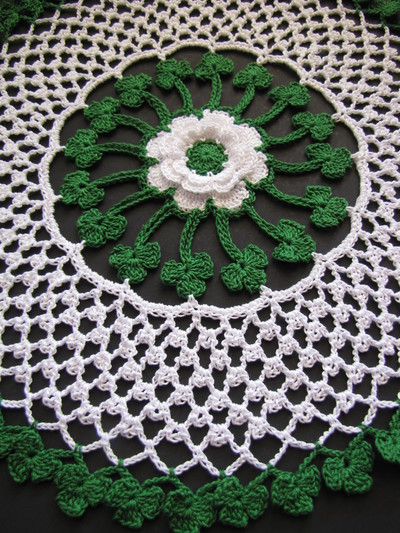 Irish Blessings Crochet Doily AllFreeCrochet.com