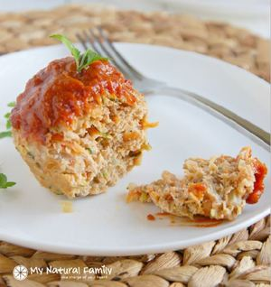 Low-Fat Paleo Turkey Meatloaf Muffins