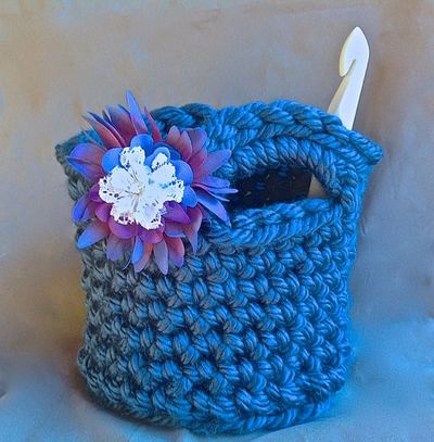 Crochet Small Tote Bag Pattern : Mega Bulky Crochet Tote Bag Pattern FaveCrafts.com