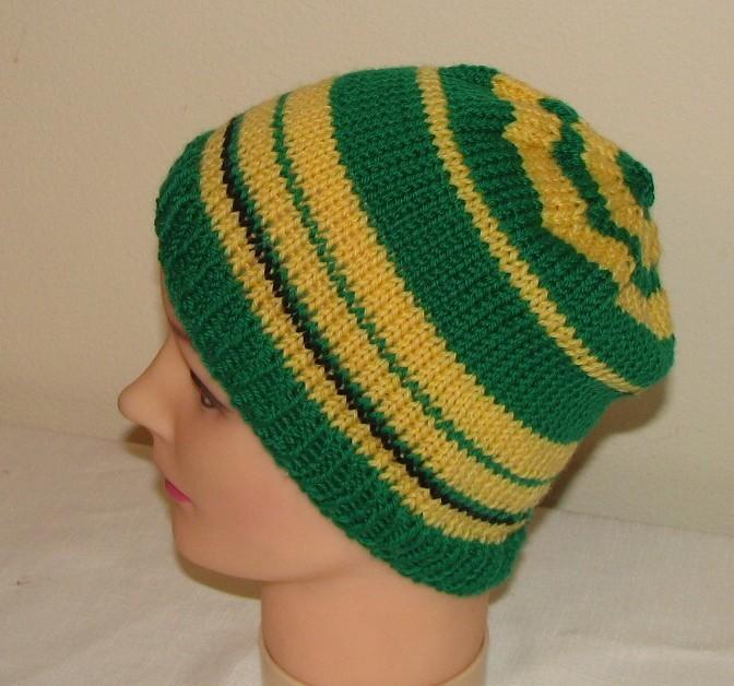 Free Knitting Pattern Duck Hat : Pi Day Knit Hat Pattern AllFreeKnitting.com