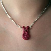 Glittery Peep Necklace