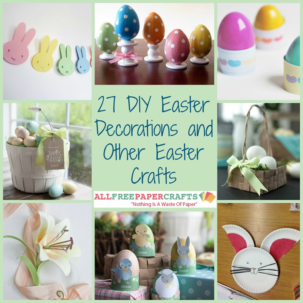 27 diy easter decorations and other easter crafts for Diy easter decorations home