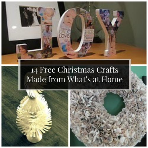 14 Free Christmas Crafts Made from What's at Home