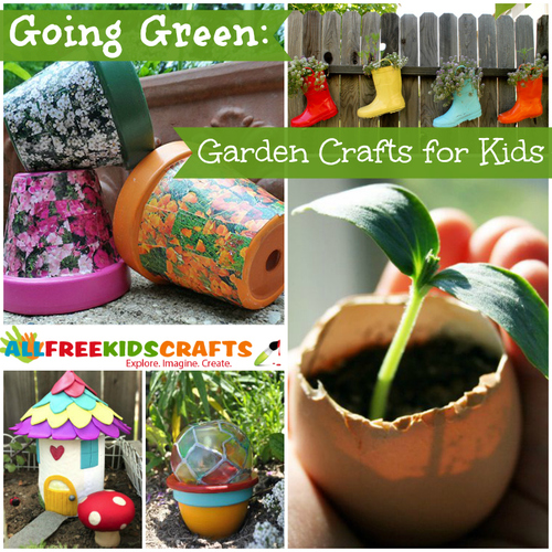 Going Green 40 Garden Crafts for Kids AllFreeKidsCraftscom