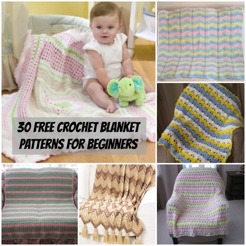 30 Crochet Blanket Patterns for Beginners