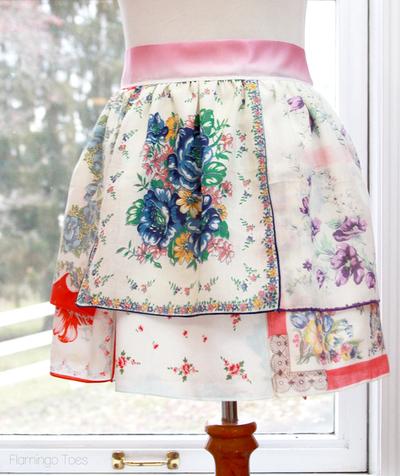 Vintage Handkerchief Free Apron Pattern