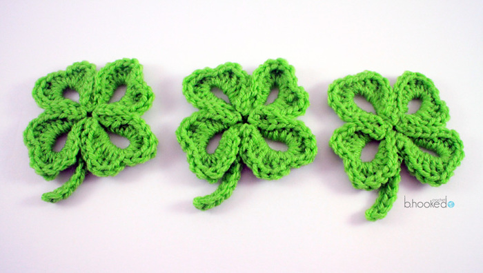 Free Crochet Patterns Four Leaf Clover : AllFreeCrochet.com - Free Crochet Patterns, Crochet ...