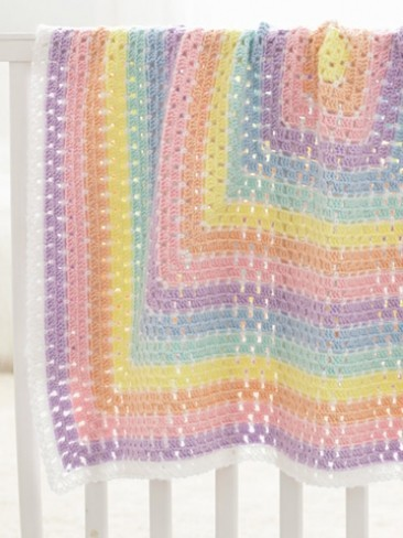 Beginner Crochet Patterns For Baby Blanket : Beginner Daydream Baby Blanket ...