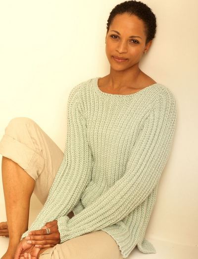 Easy Aran Cardigan Knitting Pattern : Easy Casual Pullover AllFreeKnitting.com
